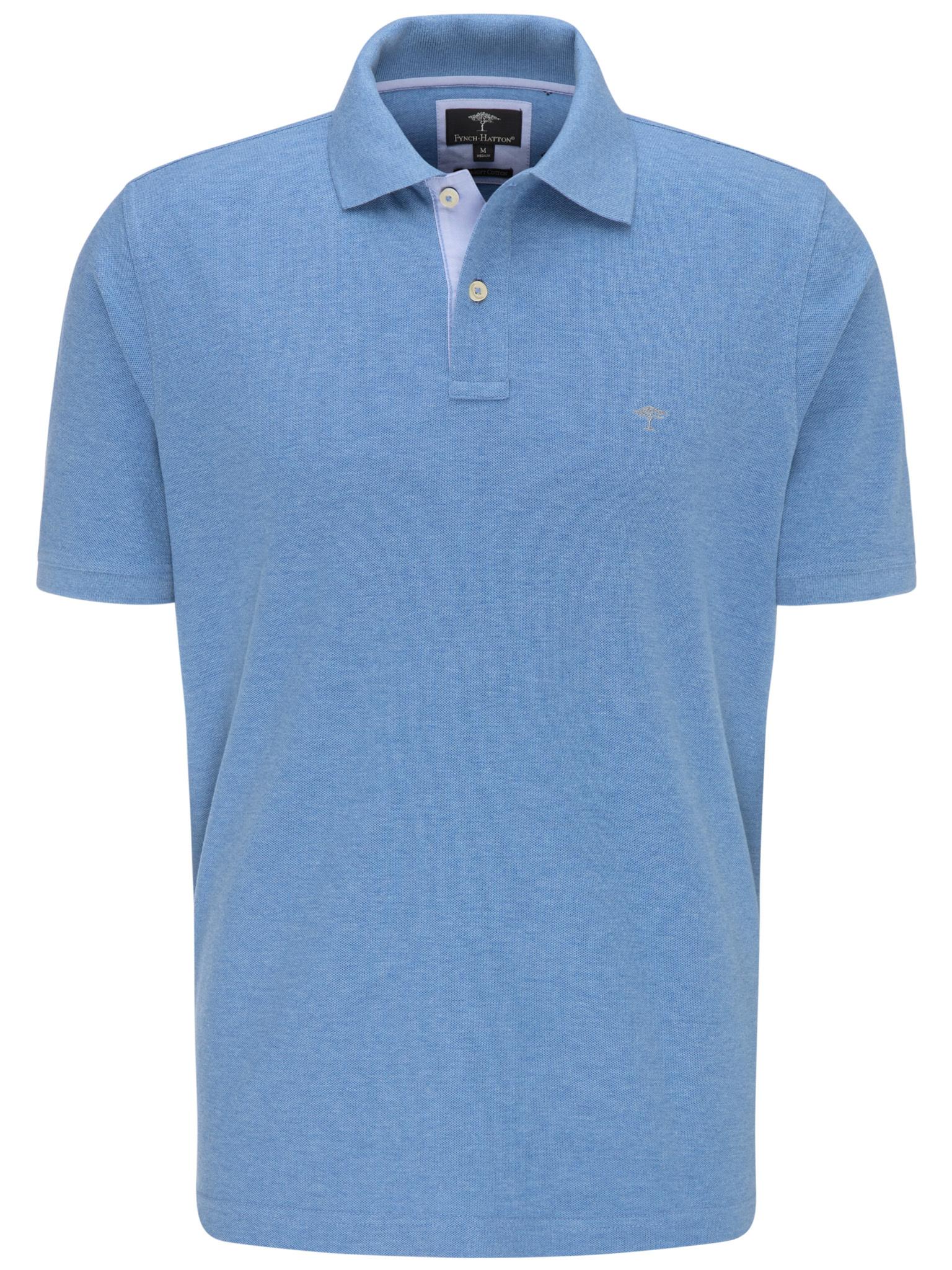 Fynch Hatton cotton polo in ligh blue