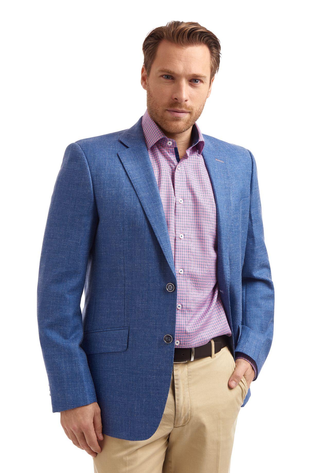 Gurteen Cobalt Herringbone jacket