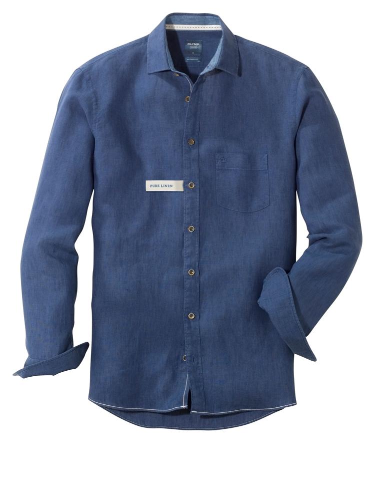 Olymp Indigo casual long sleeved shirt