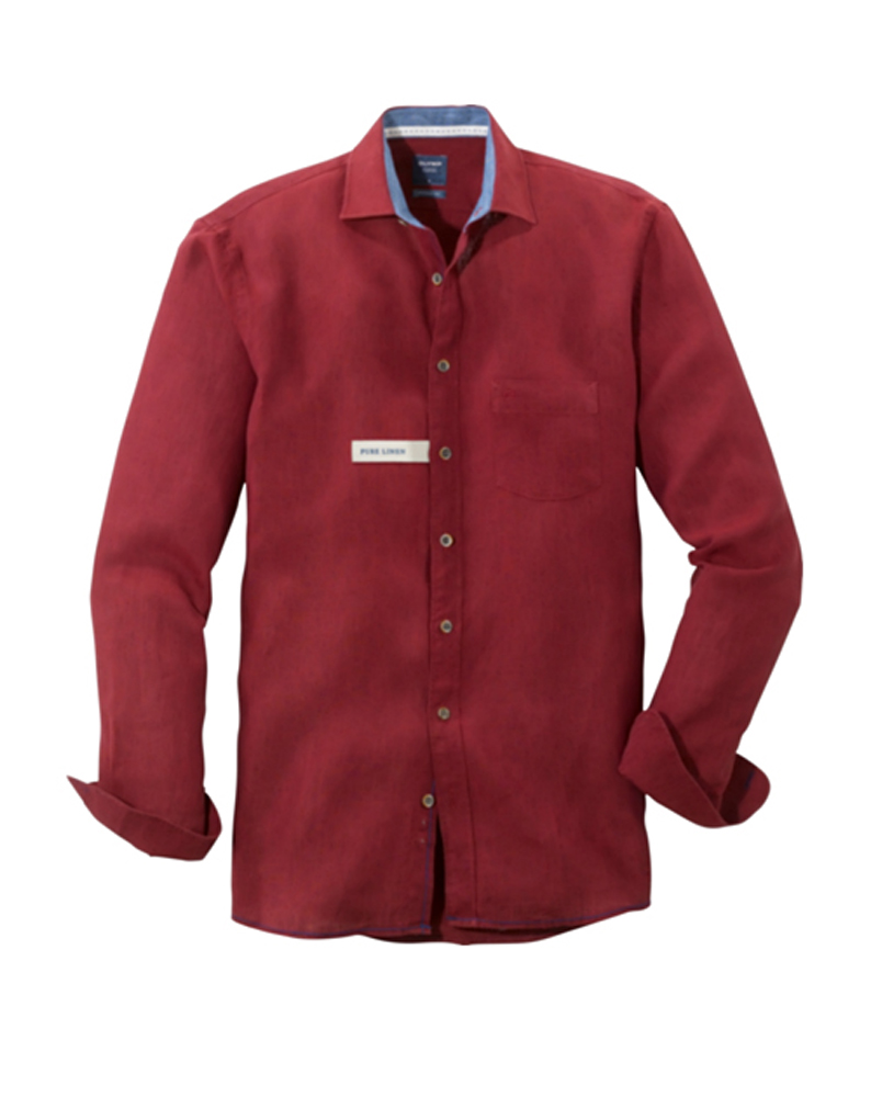 Olymp bordeaux long sleeved shirt