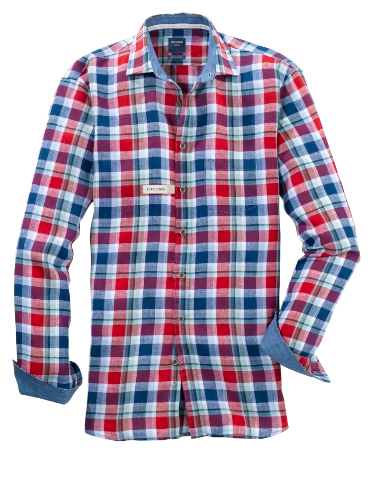 Olymp red checked shirt