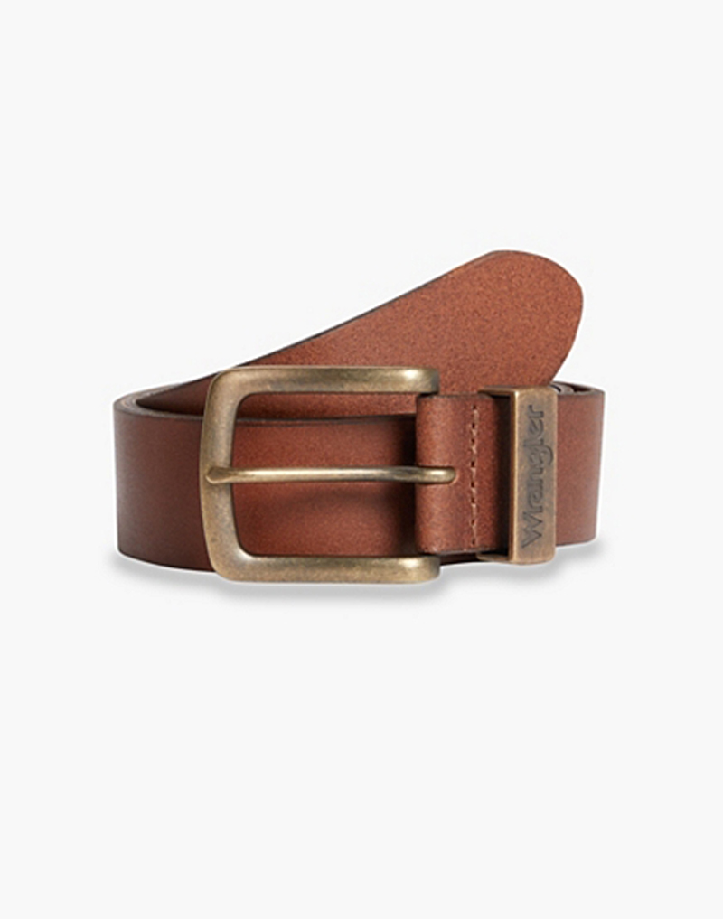 Wrangler metal Loop Belt in Cognac