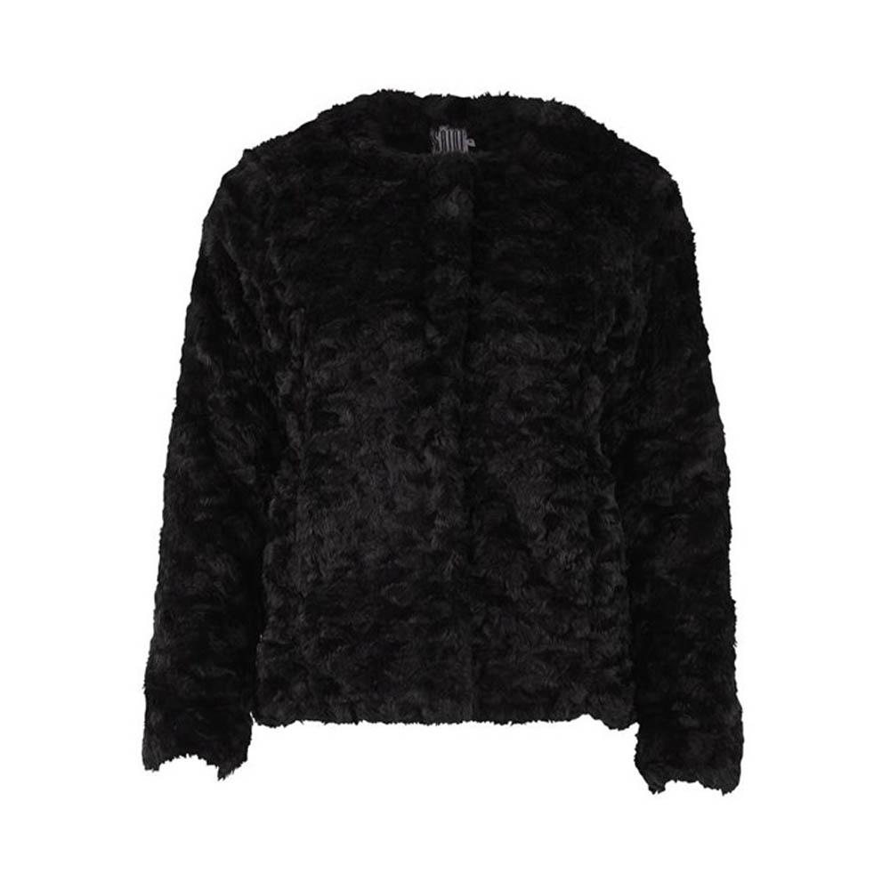 Saint Tropez Faux Fur Black Jacket