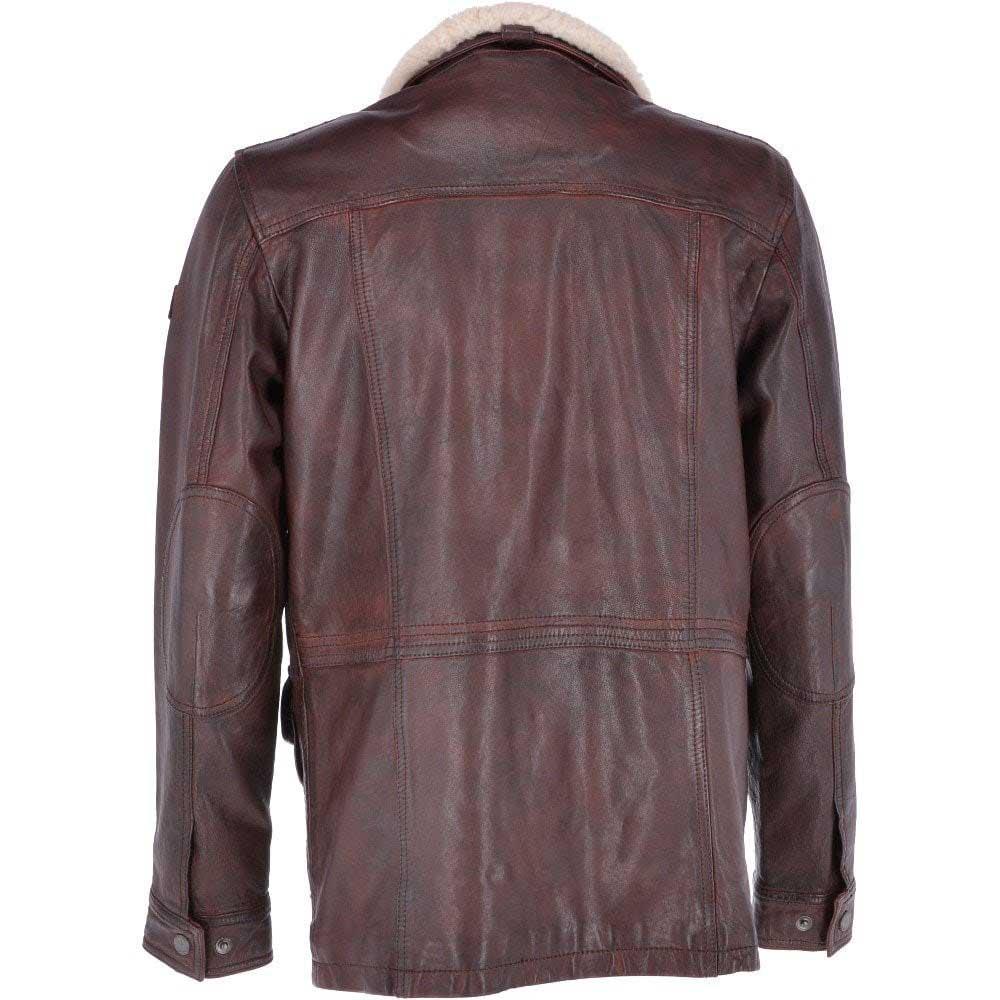 Trapper Allen Oxblood Leather Vintage Jacket