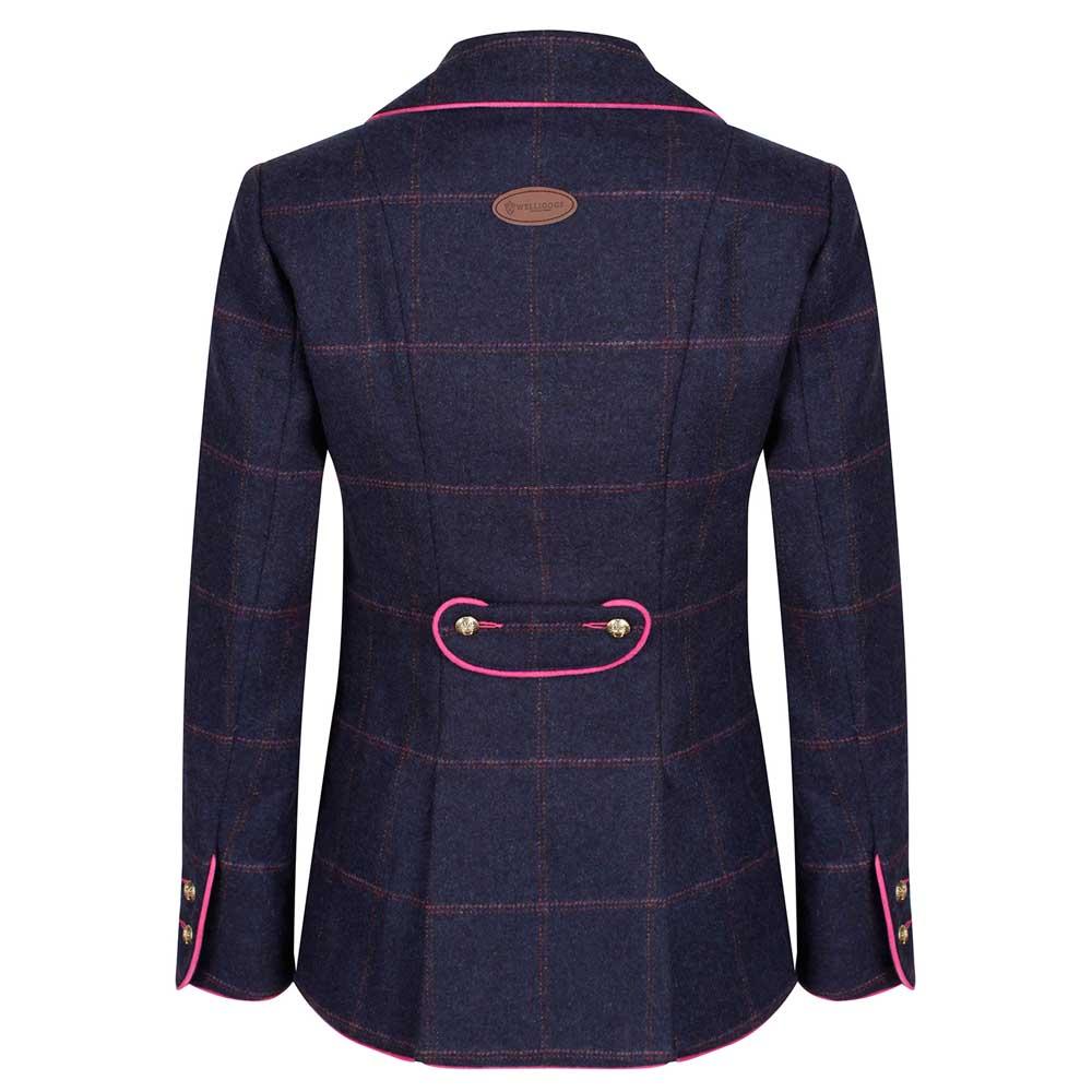 Welligogs Isobel Navy and Pink Tweed Jacket