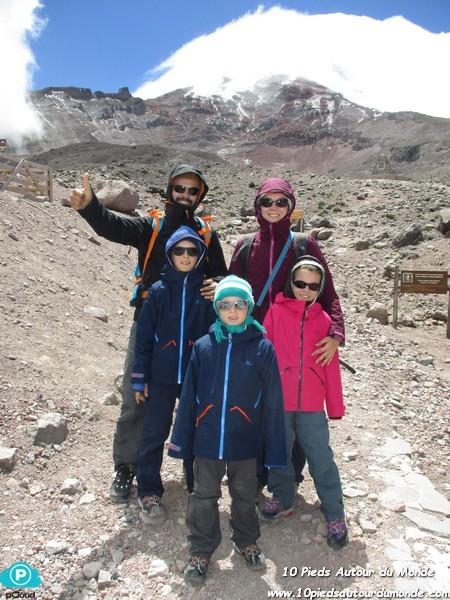 Chimborazo - avant de commencer à grimper ..