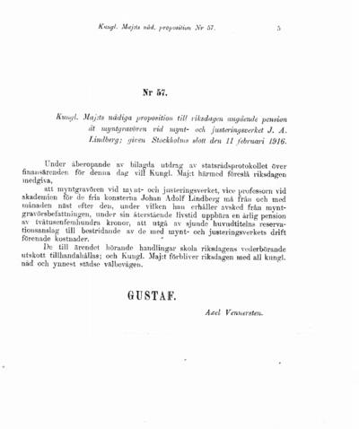 Omslaget till prop. 1916:57