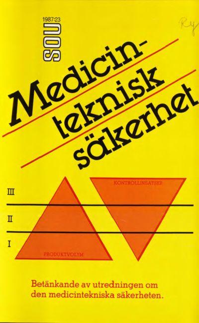 Omslaget till SOU 1987:23
