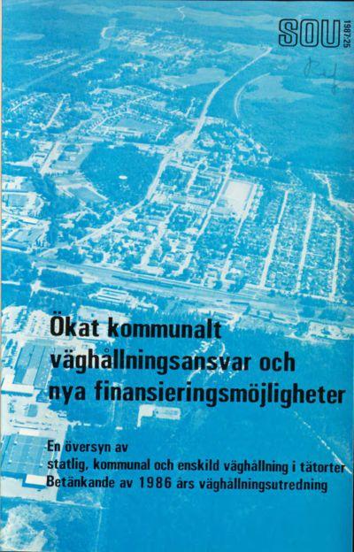 Omslaget till SOU 1987:25