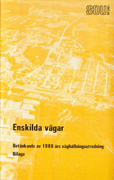 Omslaget till SOU 1987:26