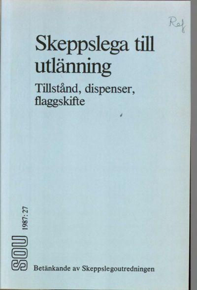 Omslaget till SOU 1987:27