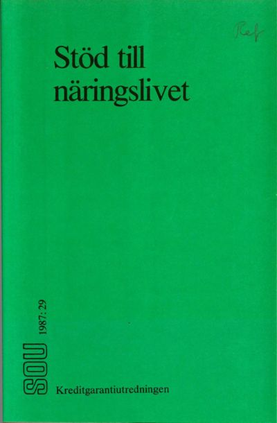Omslaget till SOU 1987:29