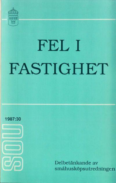 Omslaget till SOU 1987:30