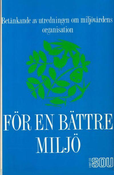 Omslaget till SOU 1987:32
