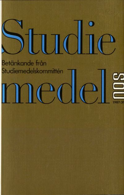Omslaget till SOU 1987:39