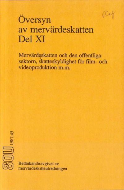 Omslaget till SOU 1987:45