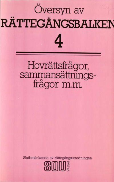 Omslaget till SOU 1987:46