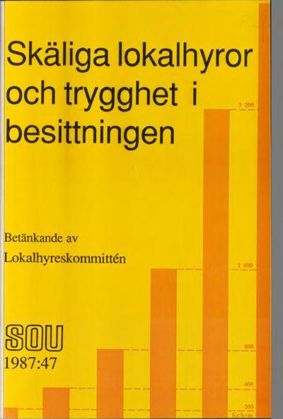 Omslaget till SOU 1987:47