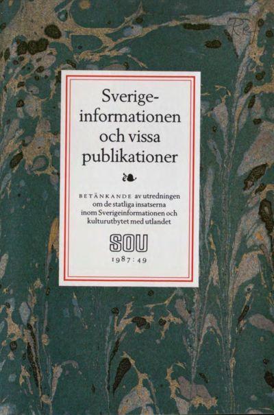 Omslaget till SOU 1987:49