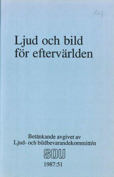 Omslaget till SOU 1987:51