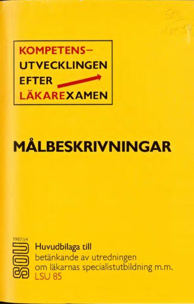 Omslaget till SOU 1987:54