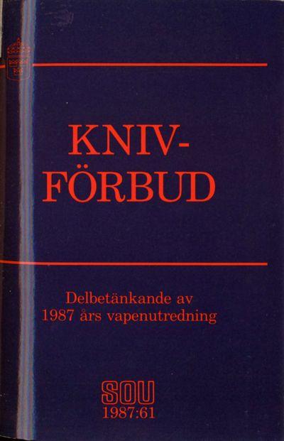 Omslaget till SOU 1987:61