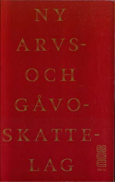 Omslaget till SOU 1987:62