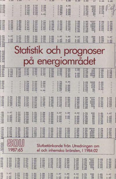 Omslaget till SOU 1987:65