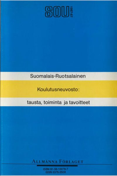 Omslaget till SOU 1987:67