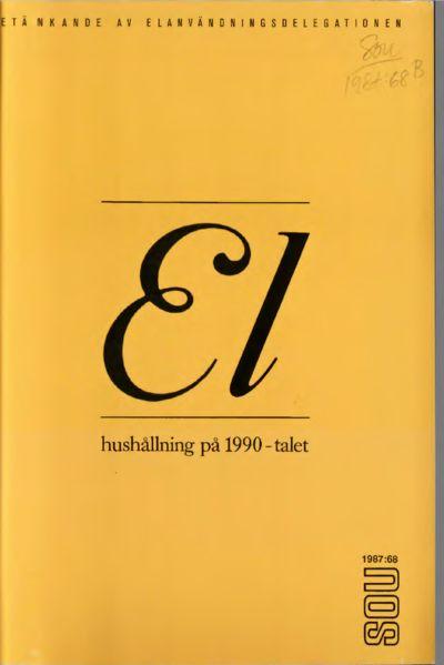 Omslaget till SOU 1987:68