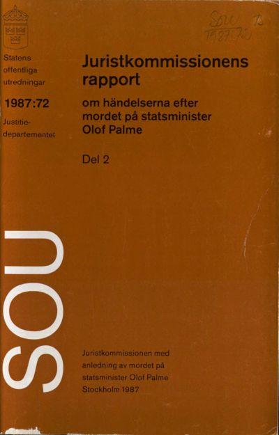 Omslaget till SOU 1987:72