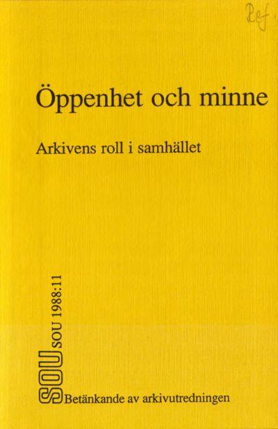 Omslaget till SOU 1988:11