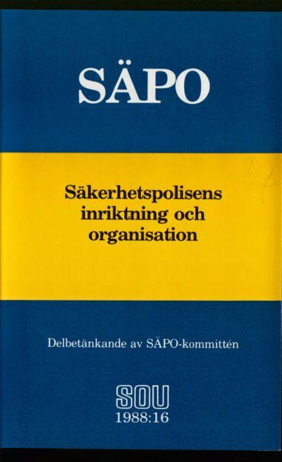 Omslaget till SOU 1988:16