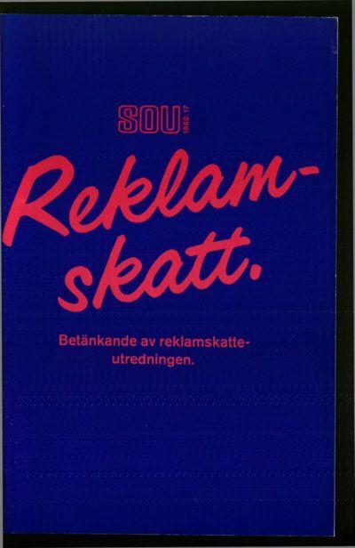 Omslaget till SOU 1988:17