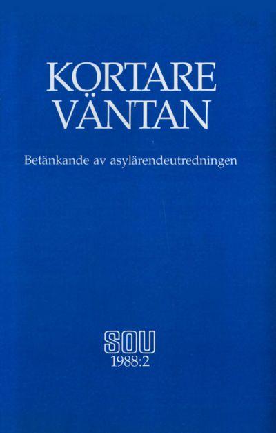 Omslaget till SOU 1988:2