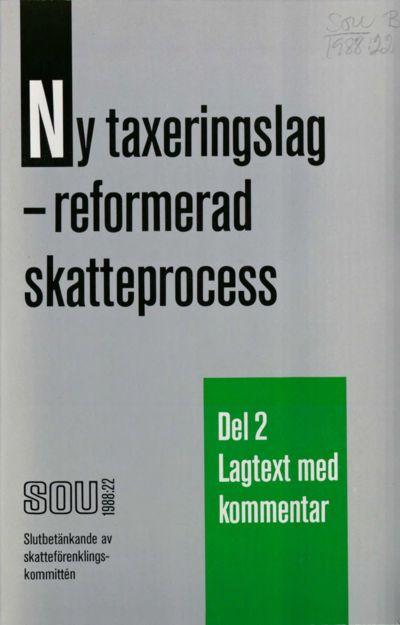 Omslaget till SOU 1988:22