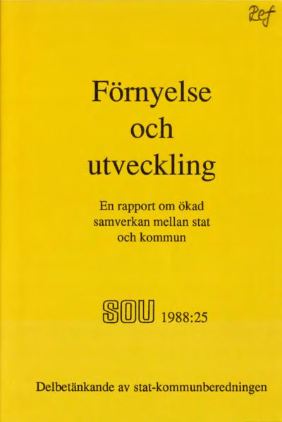 Omslaget till SOU 1988:25