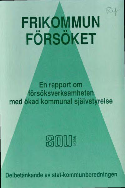 Omslaget till SOU 1988:26