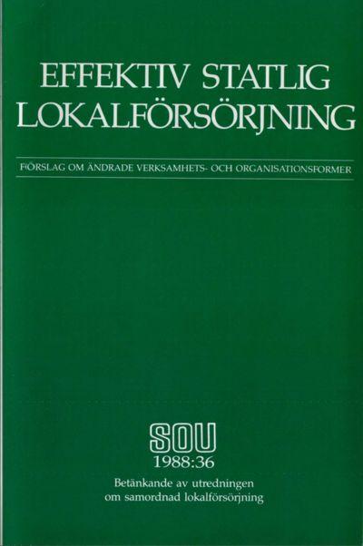 Omslaget till SOU 1988:36