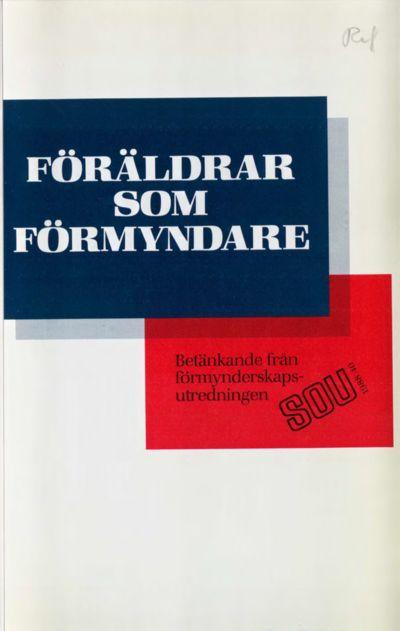 Omslaget till SOU 1988:40