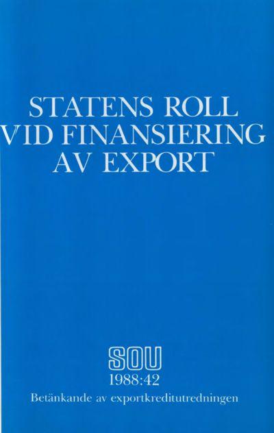 Omslaget till SOU 1988:42