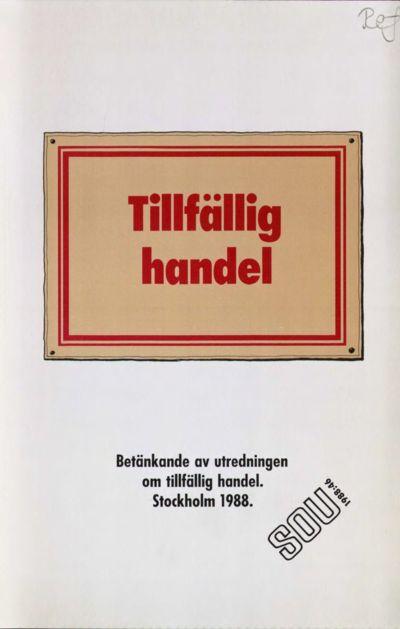 Omslaget till SOU 1988:46