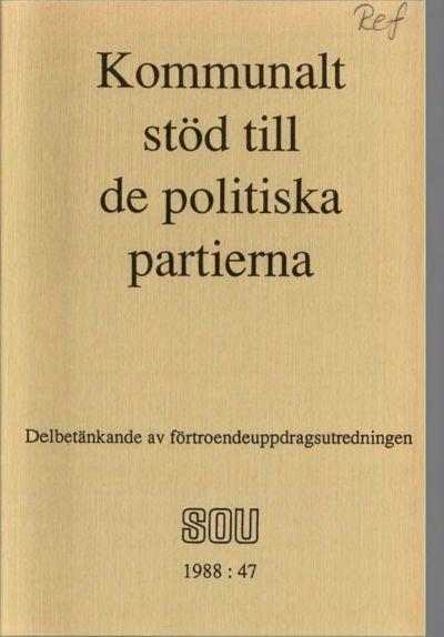 Omslaget till SOU 1988:47