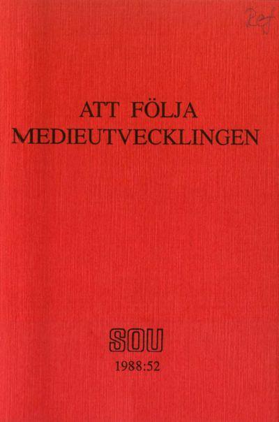 Omslaget till SOU 1988:52