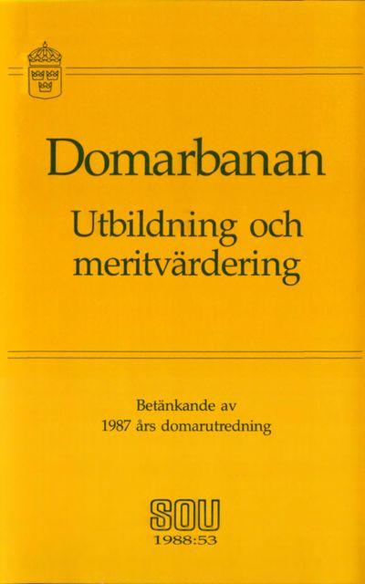 Omslaget till SOU 1988:53