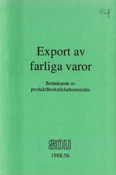 Omslaget till SOU 1988:56