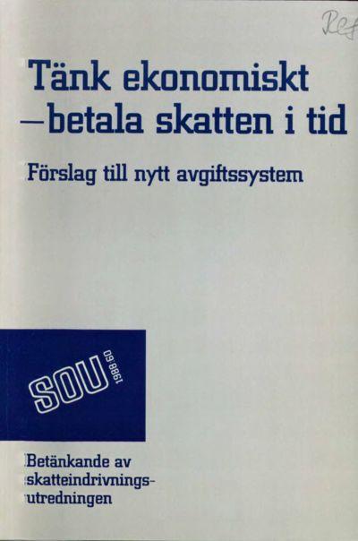 Omslaget till SOU 1988:60