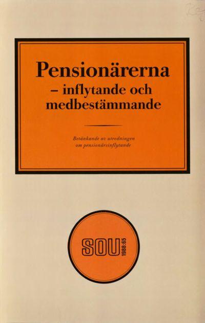 Omslaget till SOU 1988:65