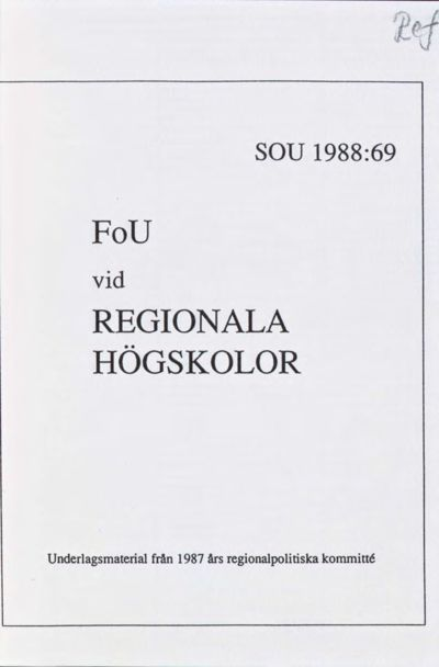 Omslaget till SOU 1988:69