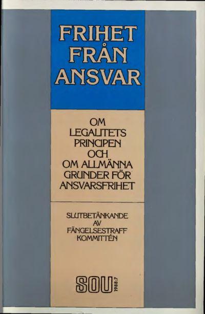 Omslaget till SOU 1988:7